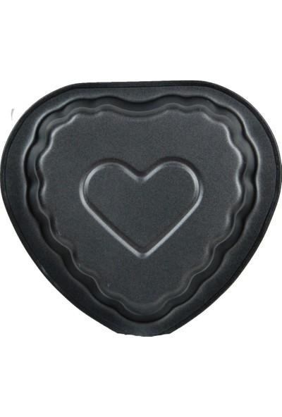 Excellent Houseware 2 Adet Mini Kalp Kek Kalıbı 13 cm