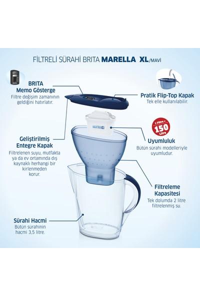 BRITA Marella XL 3 Filtreli Su Arıtma Sürahisi - Mavi
