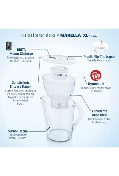 BRITA Marella XL 3 Filtreli Su Arıtma Sürahisi - Beyaz