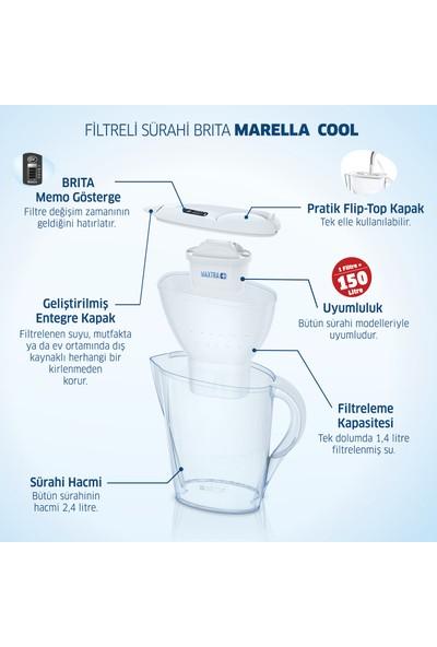 BRITA Marella Cool 2 Filtreli Su Arıtma Sürahisi - Beyaz