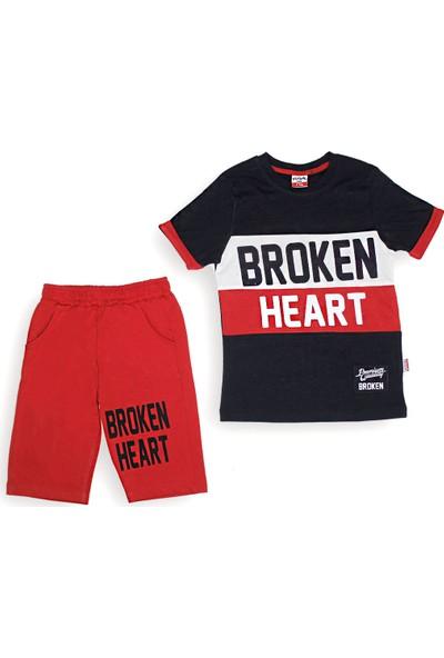 Yavrucak 433 Yavrucak Broken Heart Baskılı 2li Erkek Takım 5-8 Yaş