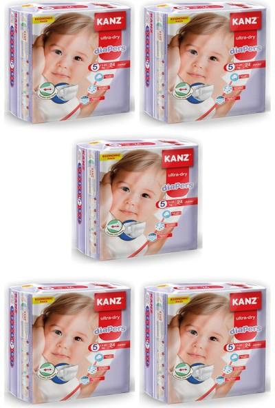 Kanz Ekonomik Paket Bebek Bezi - Junior 11 - 25 kg Koli 5 Li