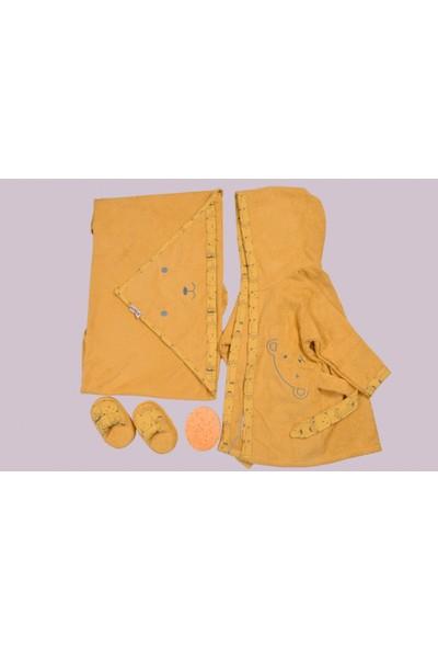 Bebitof Erkek Bebek Sarı Bornoz Takımı 0-3 Yaş_sarı