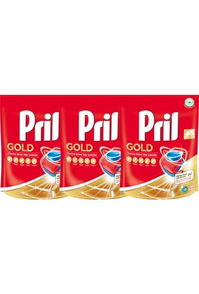 Pril Gold Bulaşık Makinesi Tableti 45'li x 3 Adet
