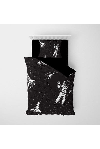 Monohome Uzay Astronot 3D Pamuk Saten Çocuk Nevresim Takımı