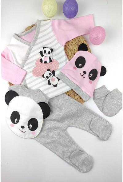 Papyon Baby Kids Panda Figürlü 5li Zıbın Hastane Çıkış Seti