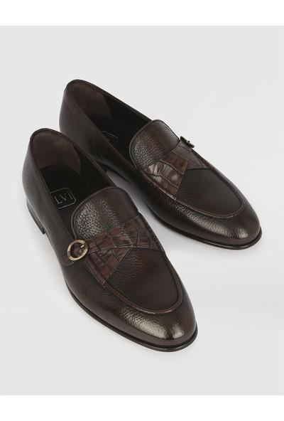 İLVİ Alamar Deri Erkek Kahve Klasik Ayakkabı