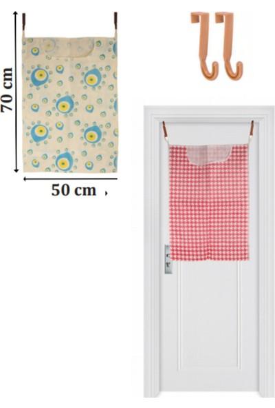 Adilon Kapı Arkası Kirli Çamaşır Torbası 2 Adet Askı