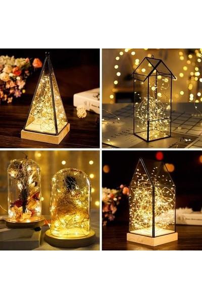 Hobialem 10 Metre, Peri LED Işık, Pilli, LED Aydınlatma, LED Işık, Dekor