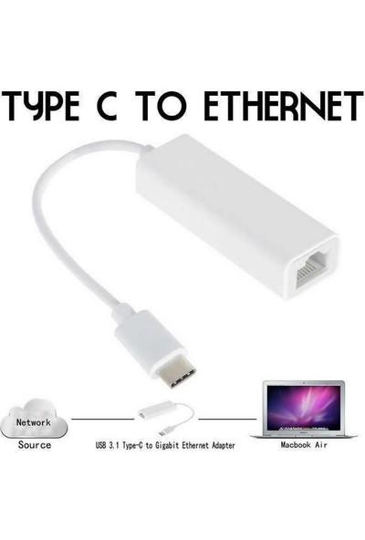 Alfais 4900 USB 3.1 Type C To Ethernet Çevirici Dönüştürücü Adaptör
