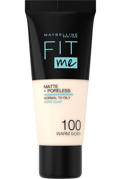 Maybelline New York Fit Me Matte+Poreless Fondöten - 100 Warm Ivory