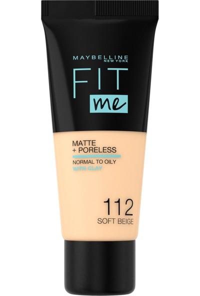 Maybelline Fit Me Matte+Poreless Fondöten NO:112