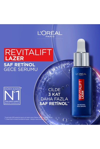 Loreal Paris Revitalift Lazer Saf Retinol Gece Serumu 30 ml
