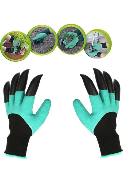 Go İthalat Garden Genie Gloves Toprak Kazma Bahçe Eldiveni