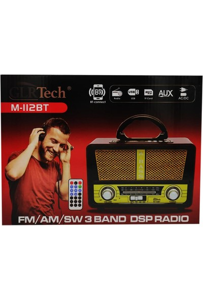 Glr M-112BT USB Tf Card Fm 3 Band Bluetooth Hoparlör