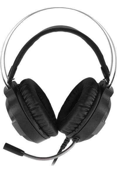 MF Product Strike 0601 RGB Kablolu Kulak Üstü Oyuncu Kulaklığı 7.1 USB Siyah