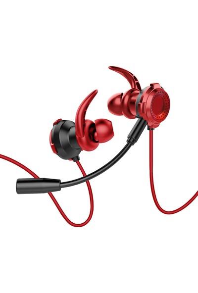MF Product Strike 0638 Mikrofonlu Kablolu Kulak İçi Oyuncu Kulaklığı Kırmızı