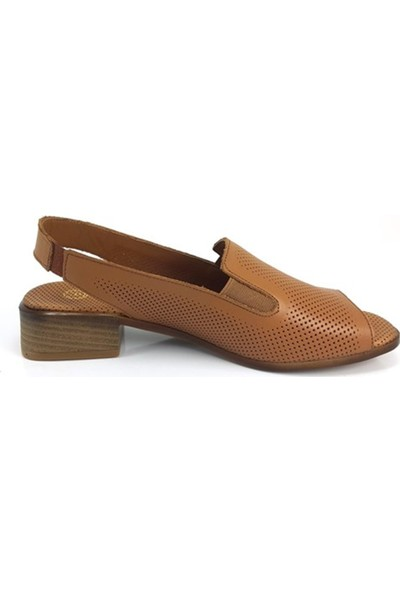 1080 Mammamia Günlük Kadın Sandalet-Taba