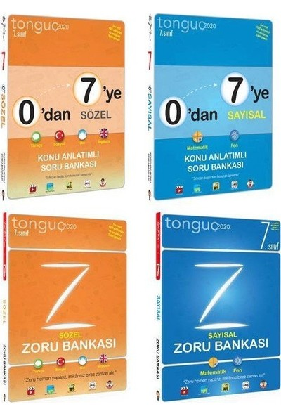 Tonguç Akademi 7. Sınıf Konu - Zoru Fırsat Seti 0'dan 7'ye Sayısal Konu Anlatımlı Soru Bankası 0'dan 7'ye Sözel Konu Anlatımlı Soru Bankası 7. Sınıf Sayısal Zoru Bankası 7. Sınıf Sözel Zoru Bankası