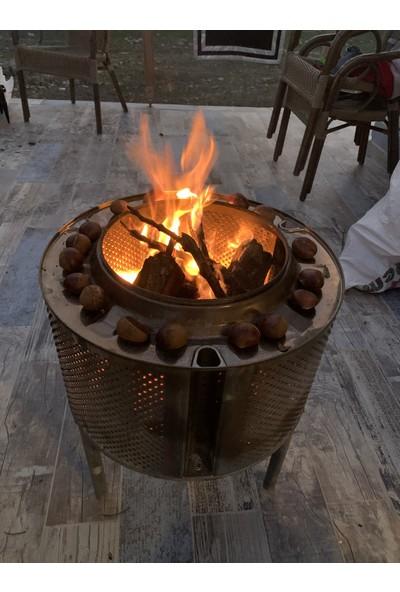 Torch Siyah Bahçe Şöminesi Ateş Çukuru