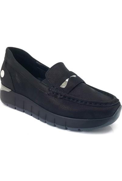 3195 Mammamia Günlük Kadın Ayakkabı-Siyah Ays