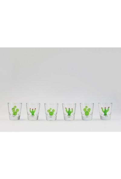 Adamodart Kaktüs Figürlü Shot Bardağı 6 Lı Set