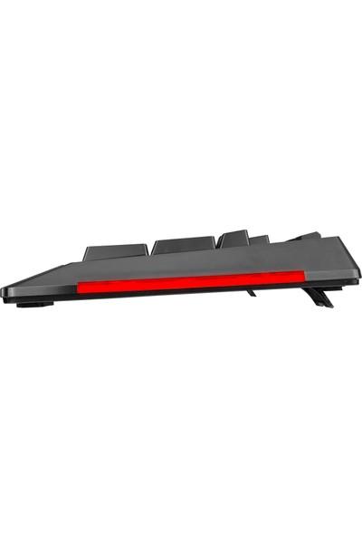Rampage Rapıdo Plus Semi Mechanical Sese Duyarlı Rainbow Işıklı Makrolu Gaming Klavye