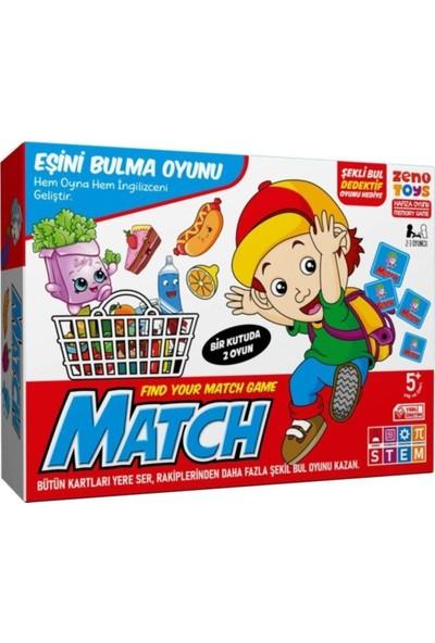 Zeno Toys Zenotoys Match 2in1 Eşleştirme Oyunu