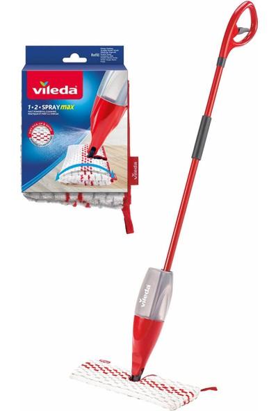 Vileda 1-2 Spray Max + Yedek Başlık Mop