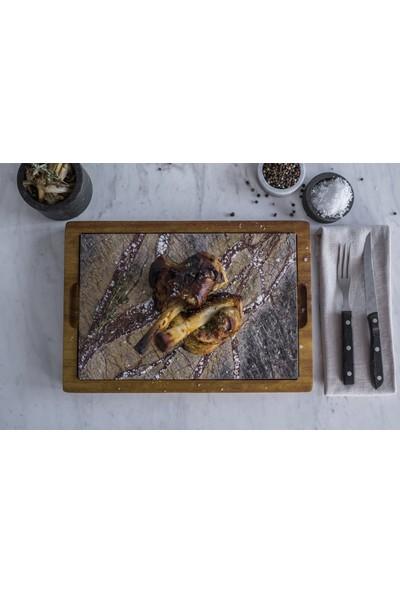 Mat For Home İroko & 20 x 30 Rainforest Brown Mermer