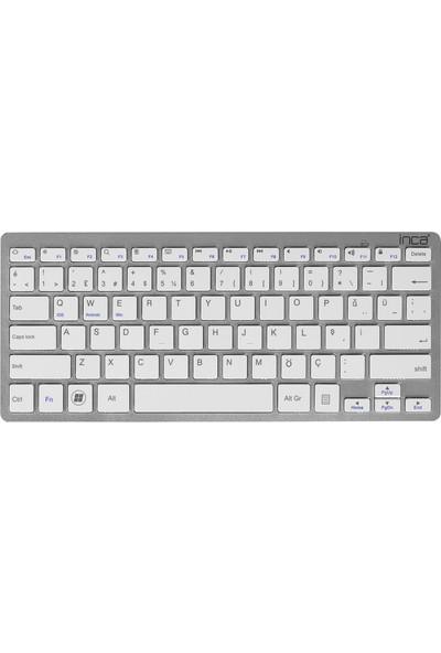 Inca IBK-569BT Pilli Bluetooth Smart Silver Klavye