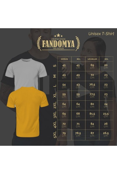 Fandomya Mohikan Kızılderili Mehar Sarı Tişört