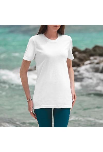 Fandomya Mohikan Kızılderili Leather Beyaz Tişört