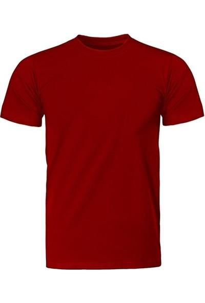 Fandomya Çocuk Bisiklet Yaka Unisex Regular Basic Kırmızı Tişört