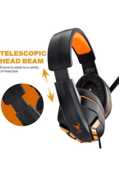 Kikc Ps-4 3.5mm Girişli 140° Ayarlanabilen Mikrofonlu Gaming Oyuncu Kulaklığı Ps_4