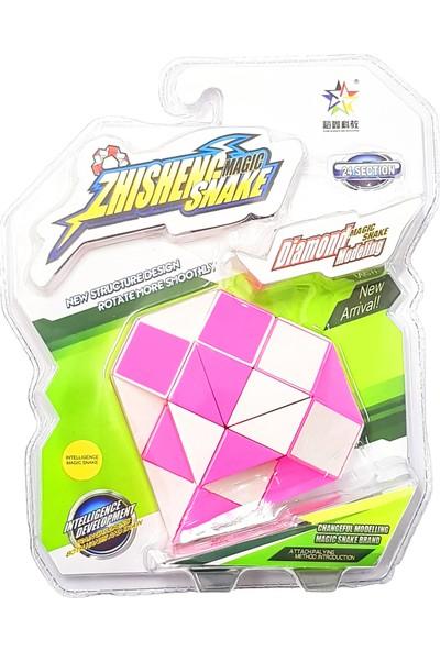 Rubiks Magic Snake 24 Segment 3D Küp Blister Paket ( Pembe )