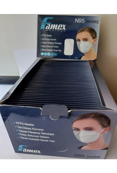 Famex Ffp2 N95 Maske 50 Adet (Zarf Tipi Ambalaj)