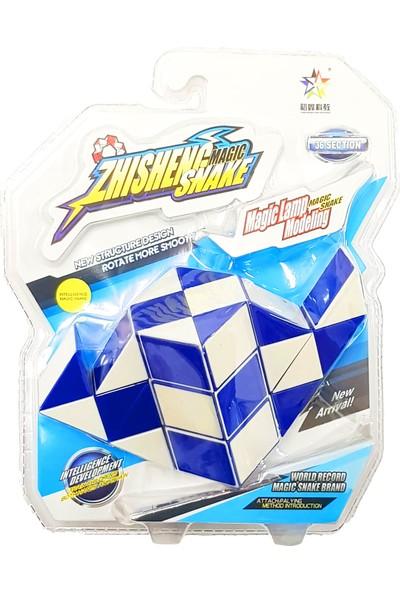 Rubiks Magic Snake 36 Segment 3D Küp Blister Paket ( Mavi )