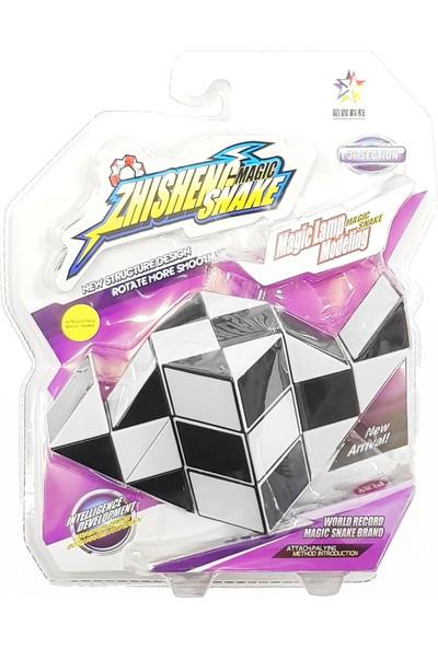 Rubiks Magic Snake 36 Segment 3D Küp Blister Paket ( Siyah )