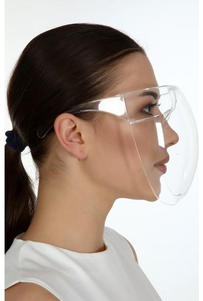 Kaan Şeffaf Maske Yüz, Göz ve Ağız Koruyucu Yikanabilir Yeniden Kullanabilabilir 5 Adet