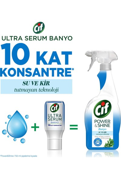Cif Ultra Serum Kapsül Banyo Temizleyici 10 Kat Konsantre 70 ML