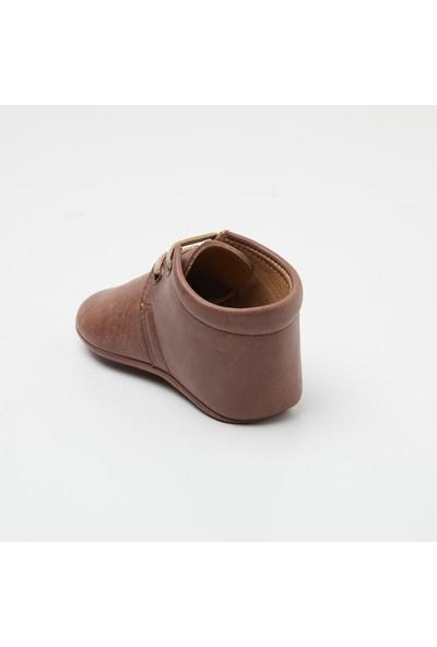Wolke Baby Eskitme Kahve Bağcıklı Bebek Botu