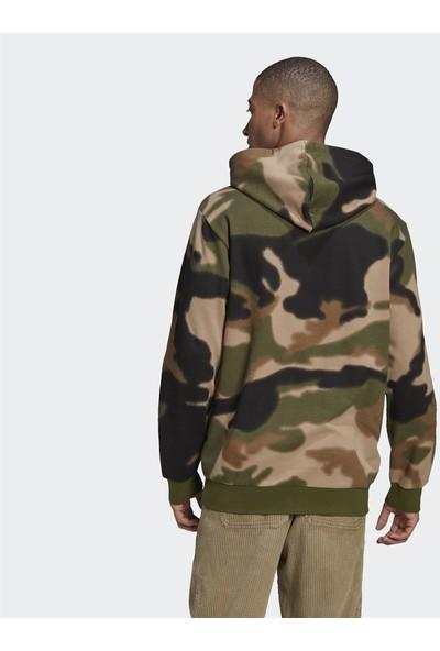 Adidas Camo Allover Print Erkek Sweatshirt