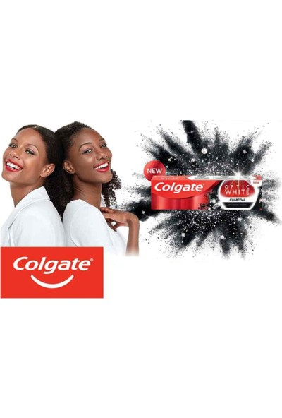 Colgate Optic White Charcoal Aktif Kömür Diş Macunu 50 ml x 3 Adet