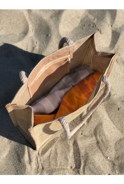 Hasır Plaj Çantası