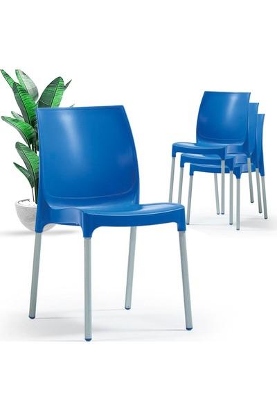 Bahex Castel 4'lü Sandalye Metal Ayaklı 3 Farklı Renk Seçeneği