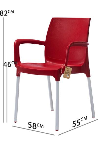 Bahex Castello 6'lı Koltuk Metal Ayaklı 3 Farklı Renk Seçeneği