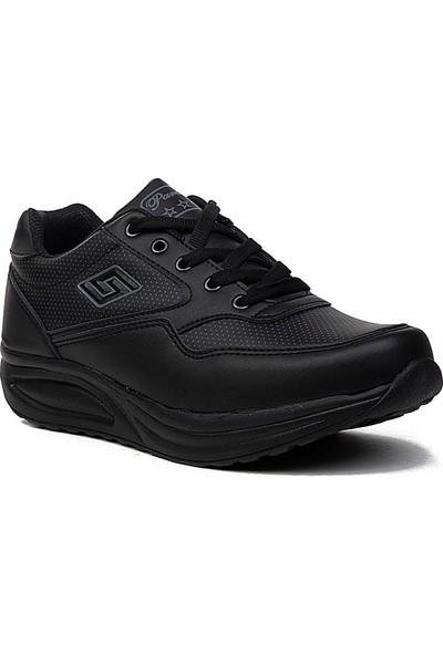 Parley Kadın Günlük Kalın Taban Mevsimlik Spor Ayakkabı Siyah - Beyaz