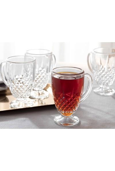 English Home Rich Cam 4'lü Kulplu Çay Bardağı 150 Ml. Şeffaf