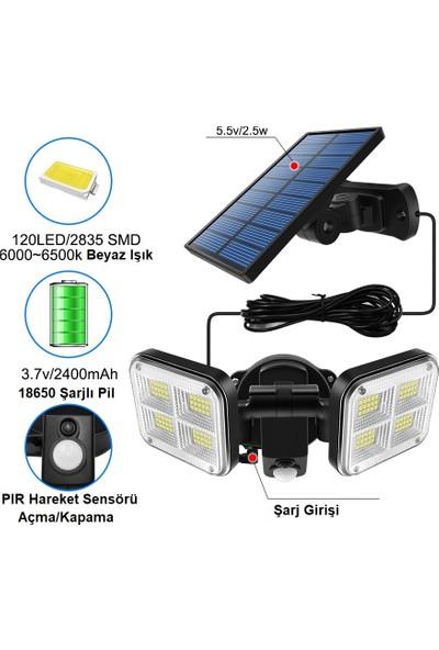 Triline 120 LED Solar Lamba 20W Güneş Enerjili Aydınlatma